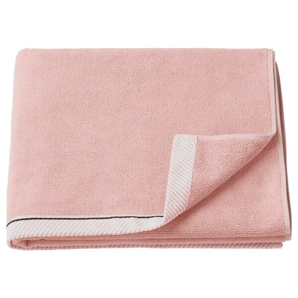 VIKFJÄRD Toalla de baño, rosa claro, 70x140 cm