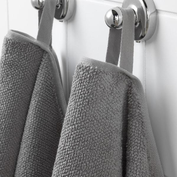 VIKFJÄRD Toalla de mano para invitados, gris, 30x50 cm