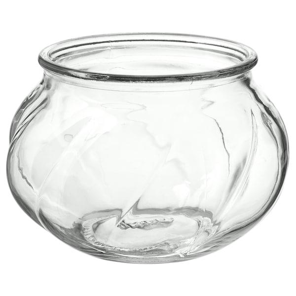 VILJESTARK Florero / jarrón, vidrio incoloro, 8 cm