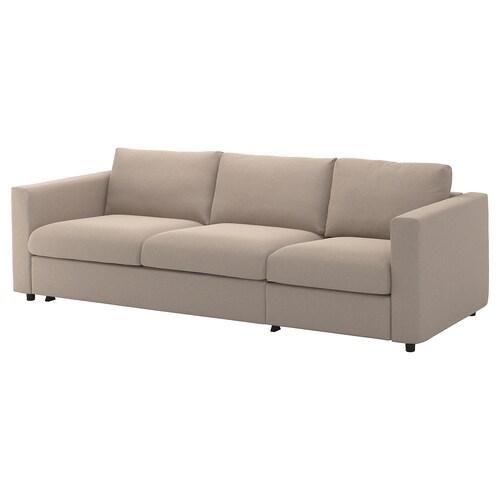 VIMLE sofá cama 3 plazas Tallmyra beige 53 cm 83 cm 68 cm 261 cm 98 cm 241 cm 55 cm 48 cm 140 cm 200 cm 12 cm
