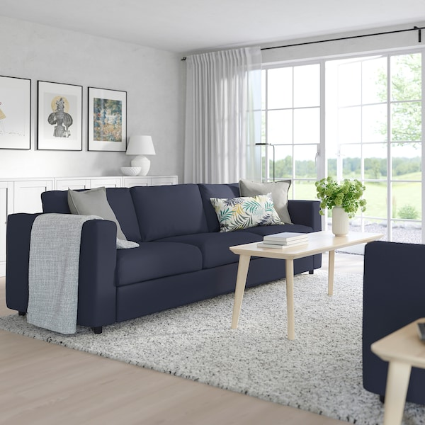 VIMLE Sofá cama 3 plazas - Orrsta negro-azul - IKEA