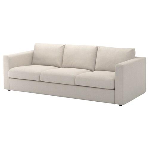 VIMLE sofá 3 plazas Gunnared beige 83 cm 68 cm 241 cm 98 cm 6 cm 15 cm 68 cm 211 cm 55 cm 48 cm