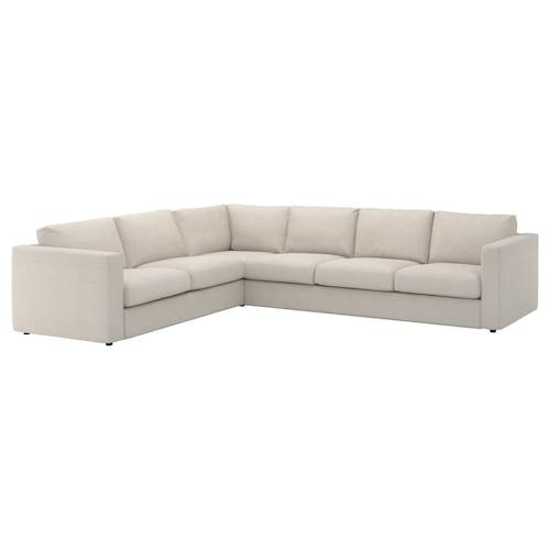 VIMLE sofá 5 plazas esquina Gunnared beige 83 cm 68 cm 98 cm 319 cm 262 cm 192 cm 249 cm 6 cm 15 cm 68 cm 55 cm 48 cm