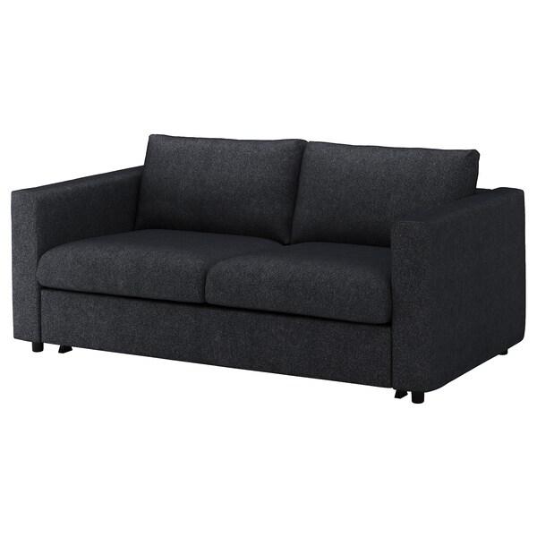 VIMLE funda para sofá cama de 2 plazas Tallmyra negro-gris