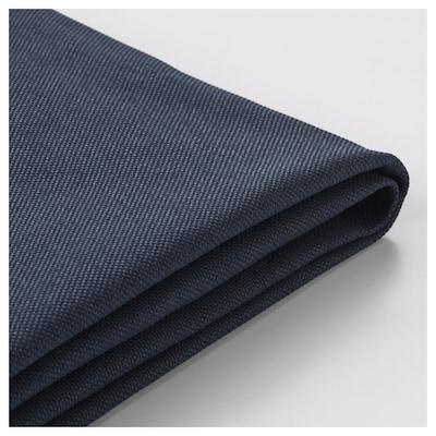 VIMLE Funda para sofá de 3 plazas, +chaiselongue/Orrsta negro-azul