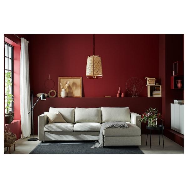 VIMLE Sofá 3 plazas, +chaiselongueGunnared beige IKEA