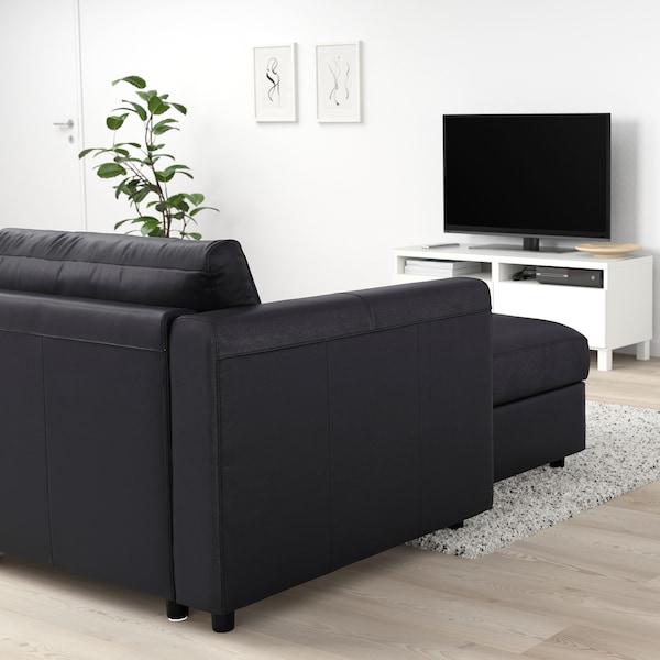 VIMLE Sofá 5 plazas esquina, +chaiselongue/Grann/Bomstad negro