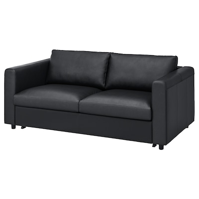 VIMLE Sofá cama de 2 plazas, Grann/Bomstad negro