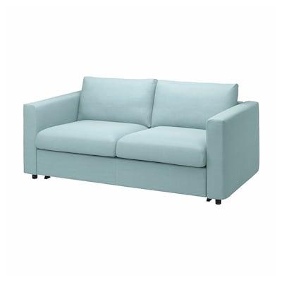 VIMLE Sofá cama de 2 plazas, Saxemara azul claro