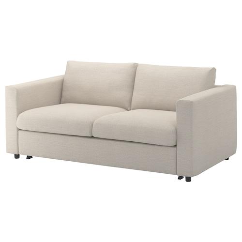 VIMLE sofá cama 2 Gunnared beige 53 cm 83 cm 68 cm 190 cm 98 cm 241 cm 55 cm 48 cm 140 cm 200 cm 12 cm
