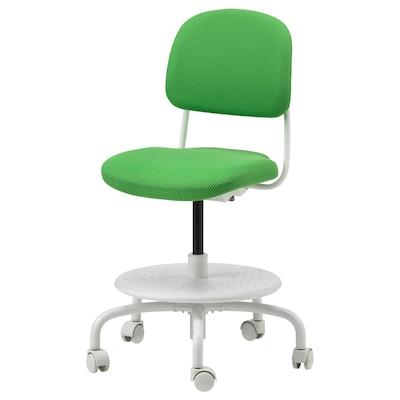VIMUND Silla escritorio niño, verde vivo