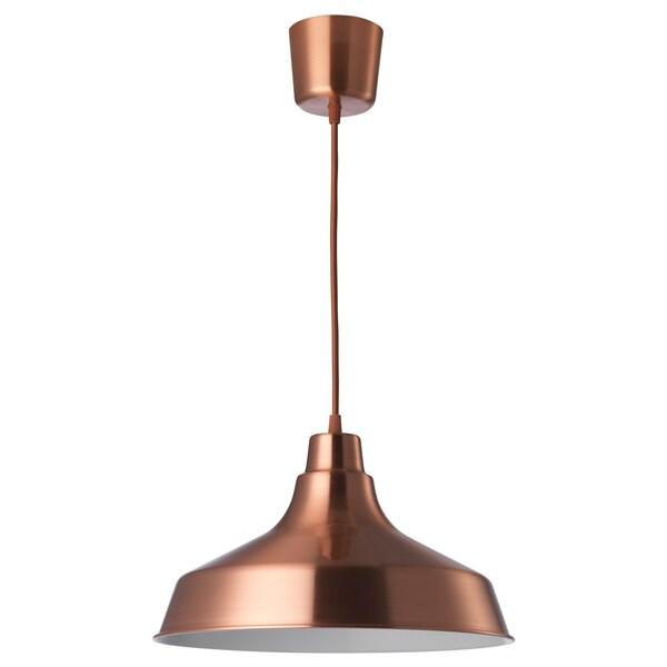 VINDKÅRE lámpara de techo rojo cobre 20 cm 36 cm 1.8 m