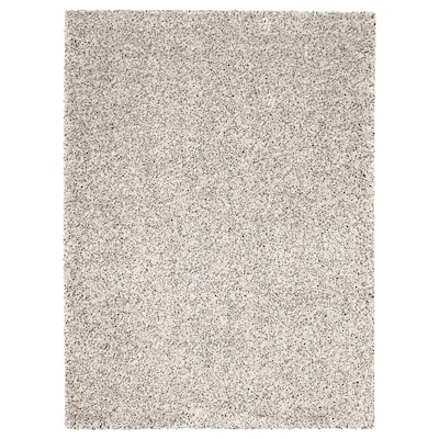 VINDUM Alfombra, pelo largo, blanco, 170x230 cm