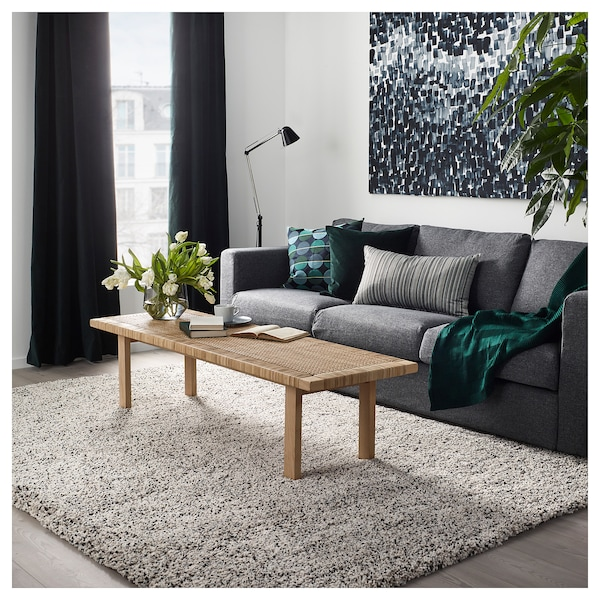 VINDUM Alfombra, pelo largo - blanco - IKEA