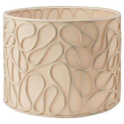 VINGMAST Pantalla para lámpara, motivo de cuerda beige, 42 cm