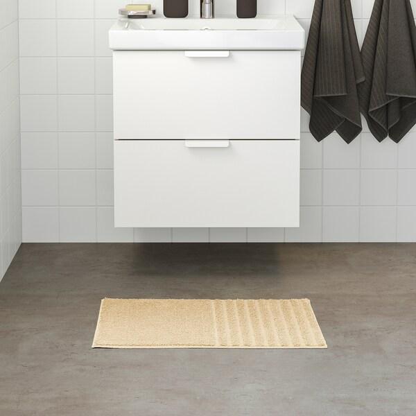 VINNFAR Alfombrilla de baño, beige claro, 40x60 cm