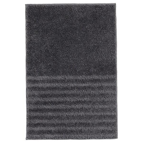 VINNFAR Alfombrilla de baño, gris oscuro, 40x60 cm