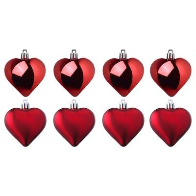VINTER 2020 Adorno colgante, forma de corazón rojo