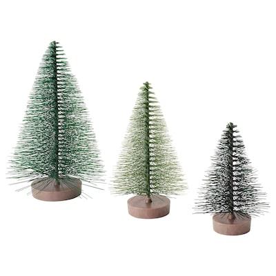 VINTER 2020 Adorno, juego de 3, árbol de navidad verde