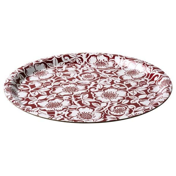 VINTER 2020 Bandeja, motivo rosa de navidad rojo/blanco, 32 cm