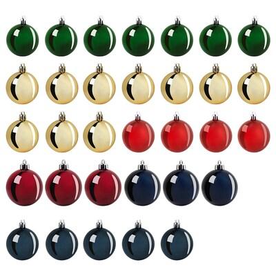 VINTER 2020 Bola árbol Navidad, juego de 32, colores variados
