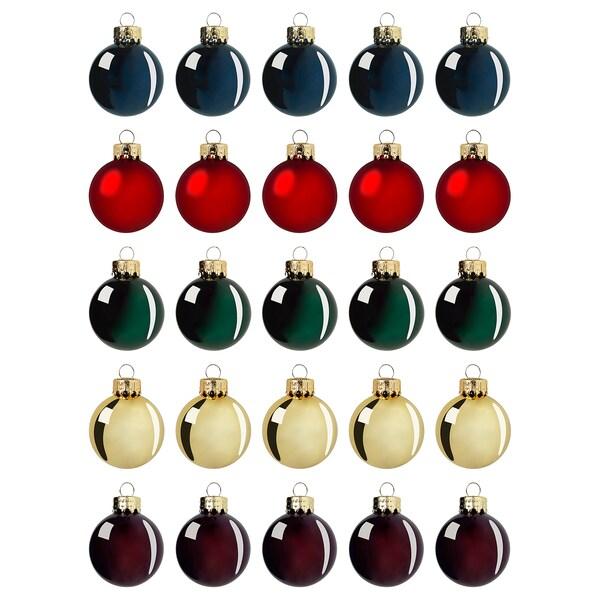 VINTER 2020 Bola árbol Navidad, vidrio colores variados, 3.5 cm