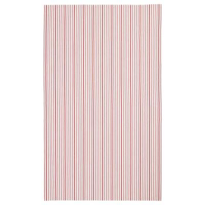 VINTER 2020 Mantel, rayas rojo/blanco, 145x240 cm