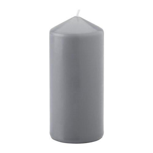 VINTER Vela gruesa sin perfum, gris - Últimas unidades en IKEA L'Hospitalet