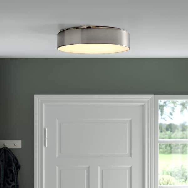 VIRRMO Lámpara techo LED, niquelado, 36 cm 800 lm