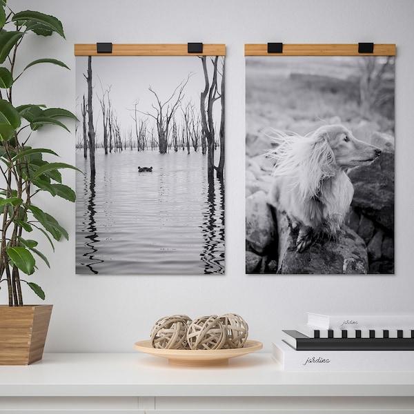 VISBÄCK Soporte póster, bambú, 40 cm