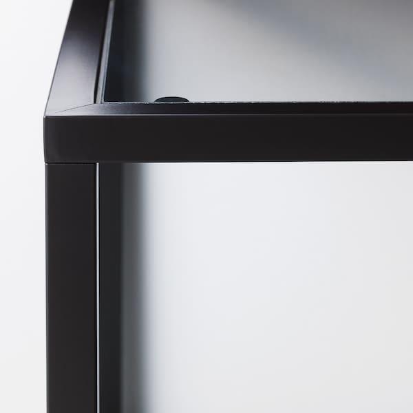 VITTSJÖ Mesa nido, j2, negro-marrón/vidrio, 90x50 cm