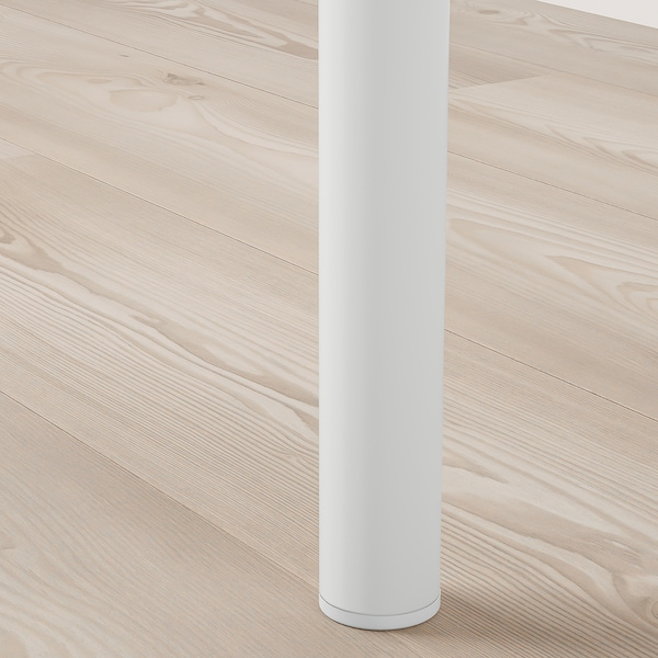 VITVAL Estructura cama alta+escritorio, blanco/gris claro, 90x200 cm