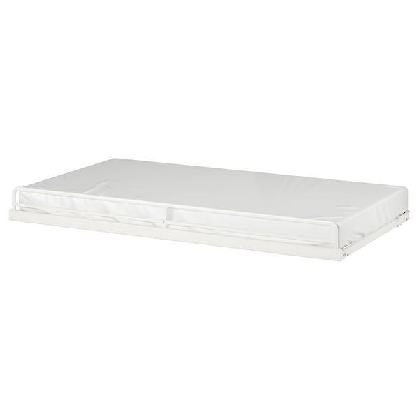 VITVAL Estructura litera y cama adicional, blanco/gris claro, 90x200 cm