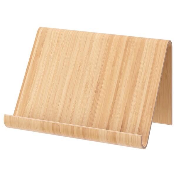 VIVALLA Soporte para tablet, chapa de bambú, 26x17 cm