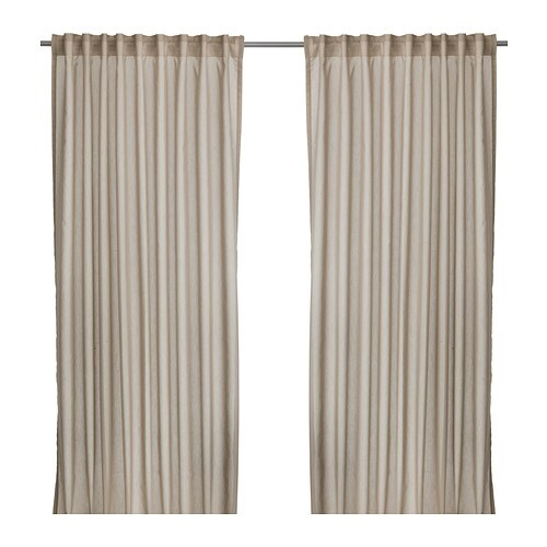 Vivan cortina 1par ikea for Cortinas para salon beige