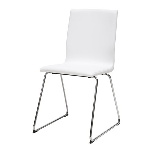 VOLFGANG  - Chair chrome-plated/Idhult white