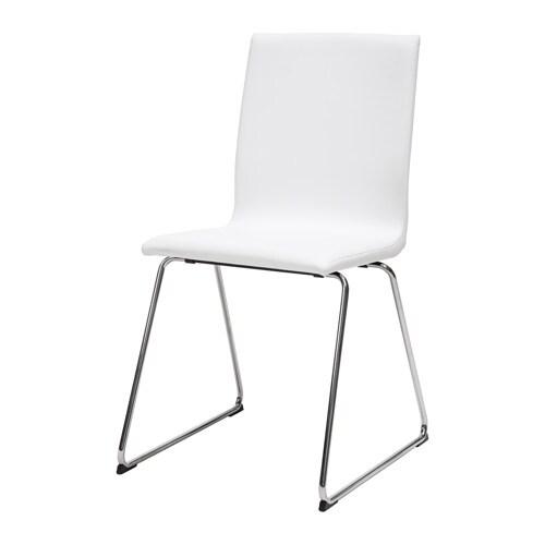 Silla VOLFGANG cromada y blanca IKEA