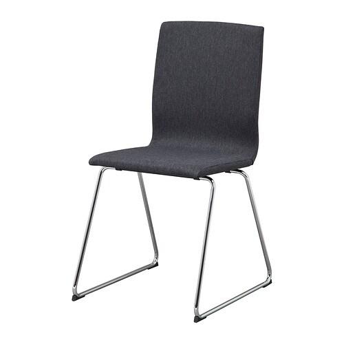 VOLFGANG  - cadira, cromat/Dansbo gris fosc