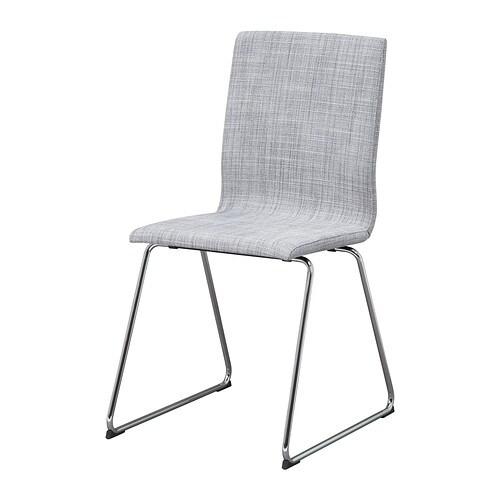 VOLFGANG  - cadira, cromat/Isunda gris