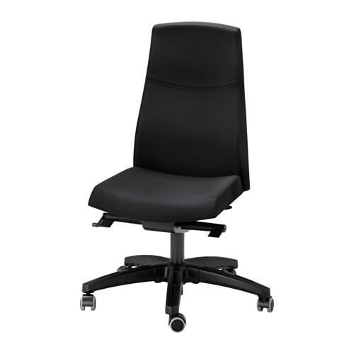 Volmar silla giratoria unnered negro ikea - Silla giratoria ikea ...