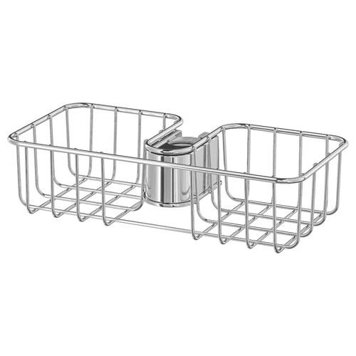 VOXNAN estante para ducha cromado 25 cm 13 cm 6 cm