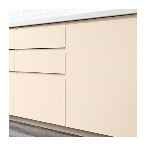 VOXTORP Puerta armario bajo esquina, 2 uds - diestro beige claro - IKEA