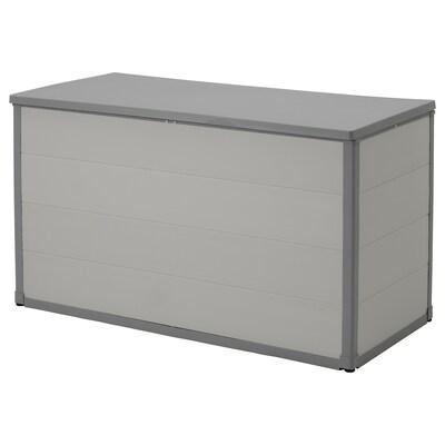 VRENEN Caja de exterior, gris claro/gris, 156x71x93 cm/819 l