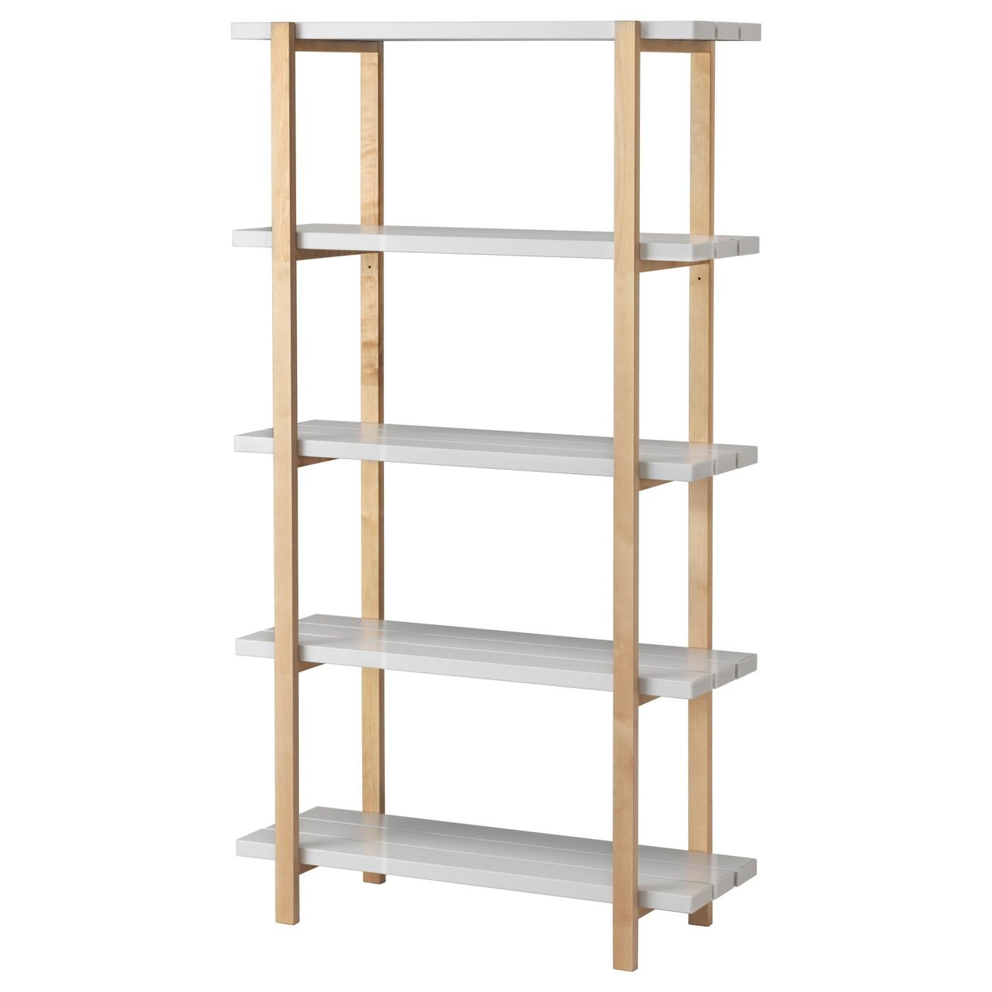 Ypperlig Estanteria Gris Claro Abedul 90 X 35 X 166 Cm Ikea