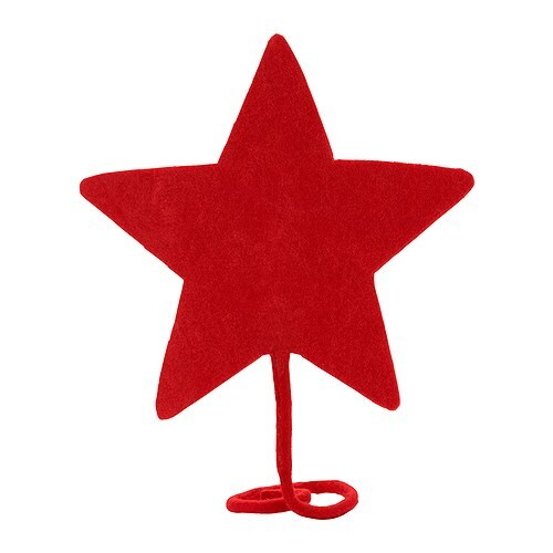 YRSNÖ Estrella punta árbol navideño, rojo Altura: 20 cm