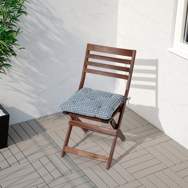 YTTERÖN cojín silla ext azul 40 cm 40 cm 8 cm 330 g 465 g