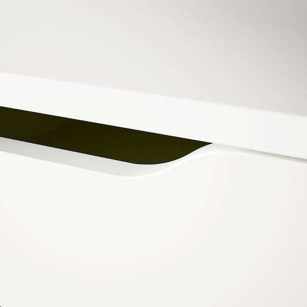 ALEX Tiradera-altzaria, zuria, 36x70 cm