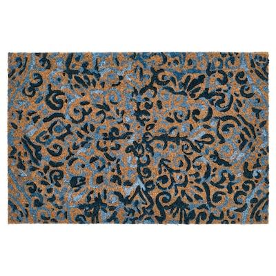 ÄNGSKLOCKA Lanpasa, barrualdekoa, naturala/urdina, 40x60 cm