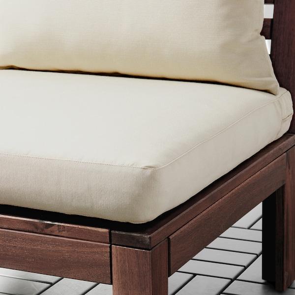ÄPPLARÖ 2 eserl kanpo modulu-sofa, marroia/Hållö beixa, 143x80x73 cm