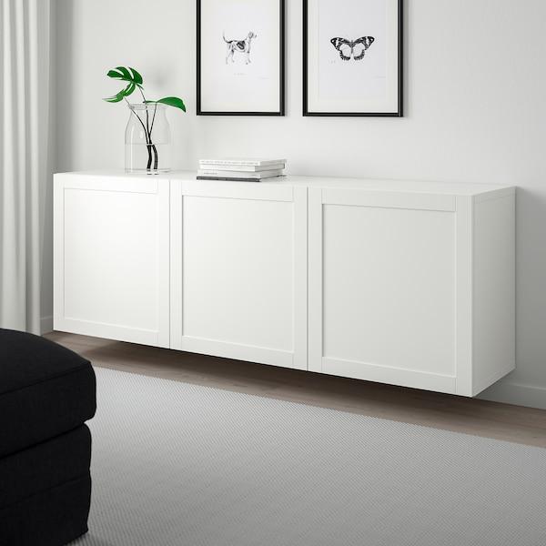 BESTÅ Kubo-apalategia, zuria/Hanviken zuria, 180x42x64 cm